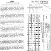 Hulusi fingering chart (english)